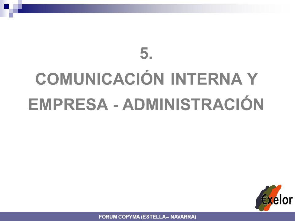 5. COMUNICACIÓN INTERNA Y EMPRESA - ADMINISTRACIÓN FORUM COPYMA (ESTELLA – NAVARRA)