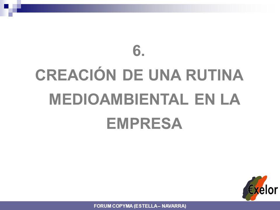 6. CREACIÓN DE UNA RUTINA MEDIOAMBIENTAL EN LA EMPRESA FORUM COPYMA (ESTELLA – NAVARRA)