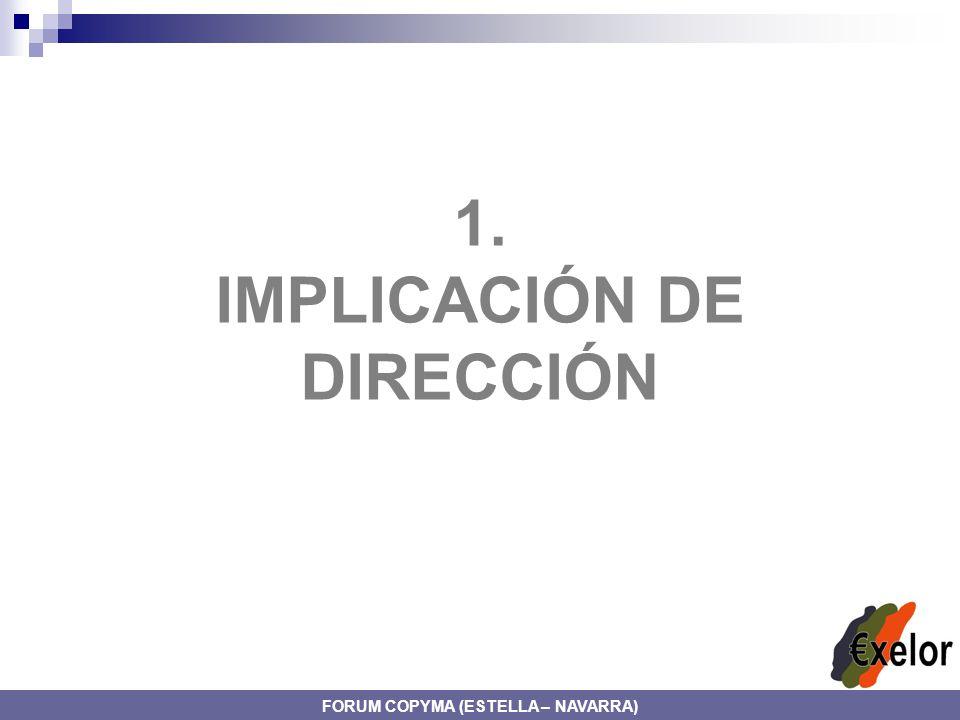 1. IMPLICACIÓN DE DIRECCIÓN FORUM COPYMA (ESTELLA – NAVARRA)
