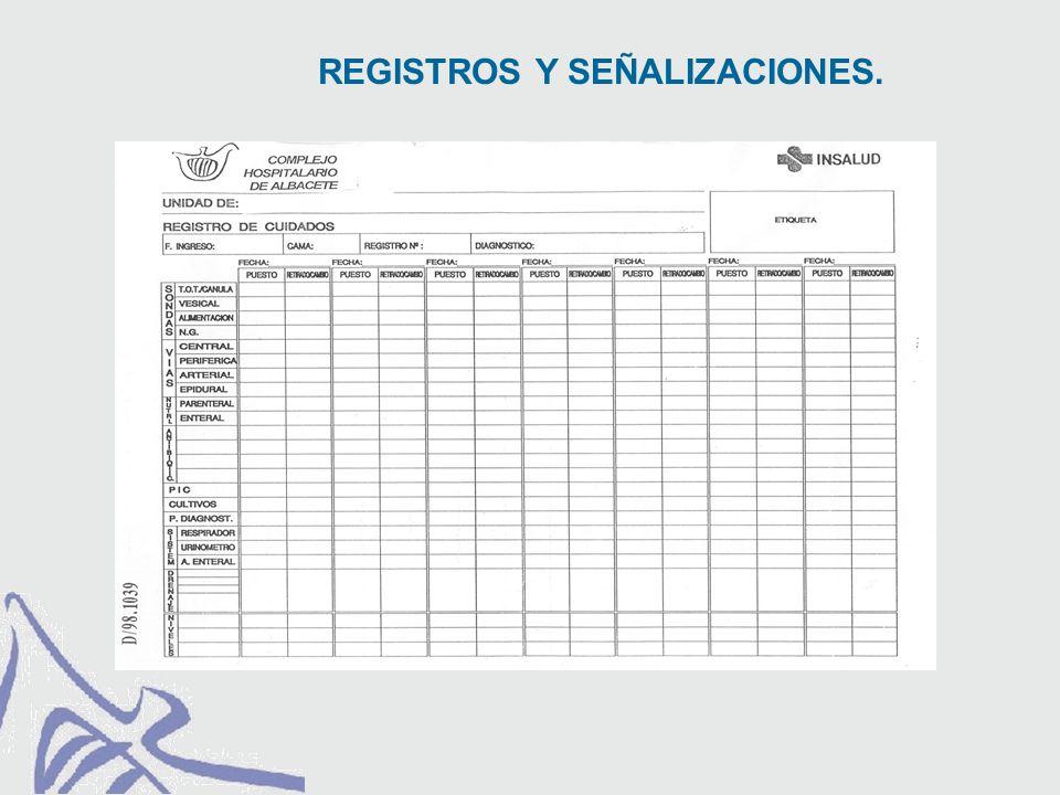 REGISTROS Y SEÑALIZACIONES.