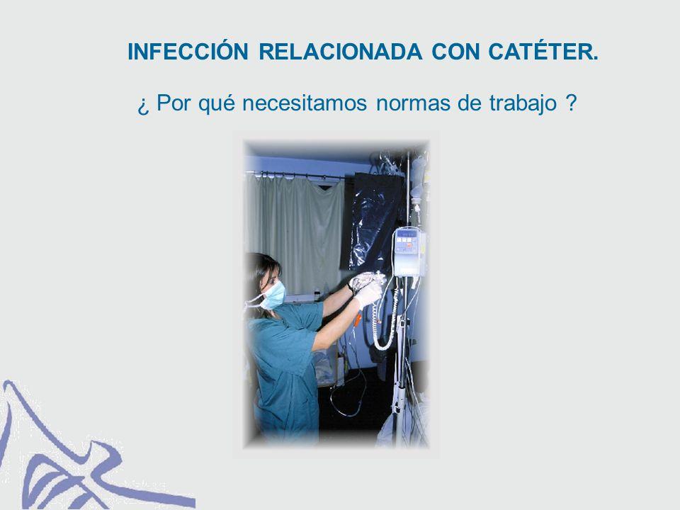 PREVENCIÓN DE LA INFECCIÓN RELACIONADA CON CATÉTER. Asepsia del personal: Técnica estéril.