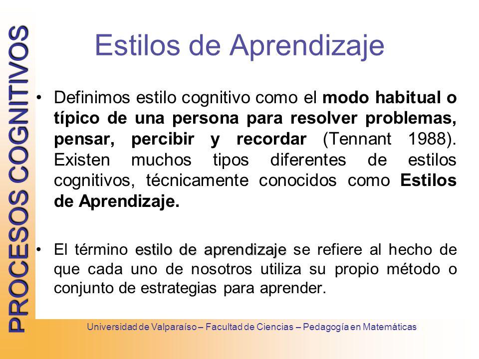 estilo cognitivos aprendizaje: