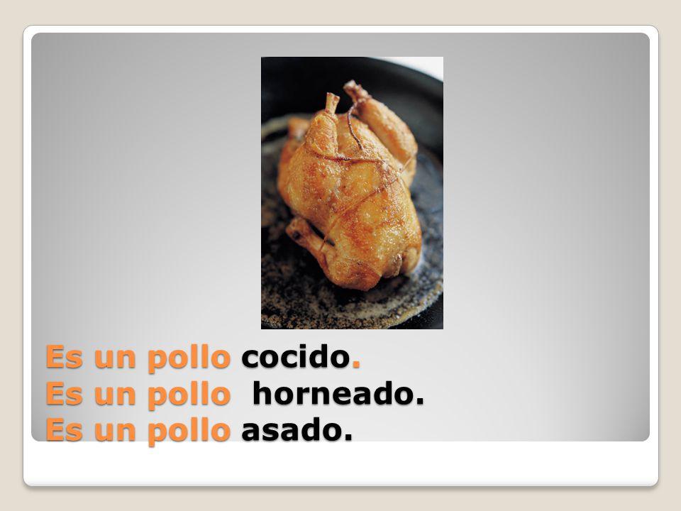 Es un pollo _______.