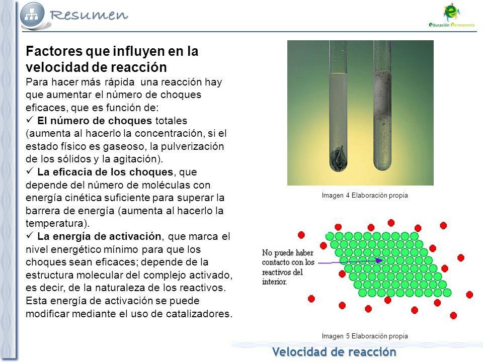 Velocidad de reaccin Energtica y cintica qumica Velocidad de