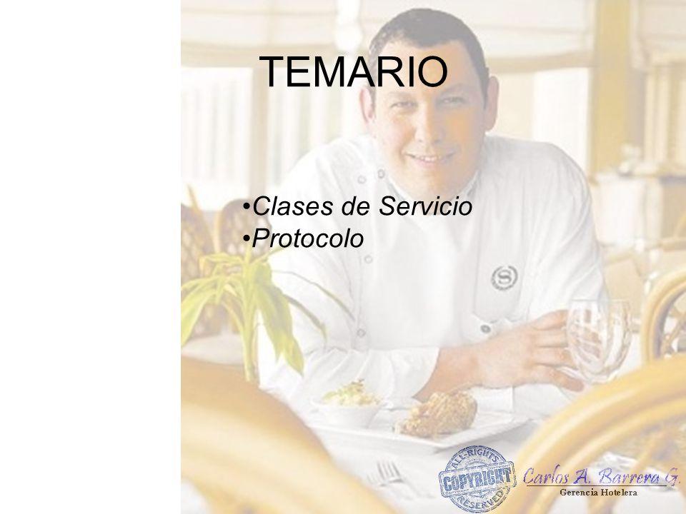 TIPOS DE SERVICIO Servicio Americano.