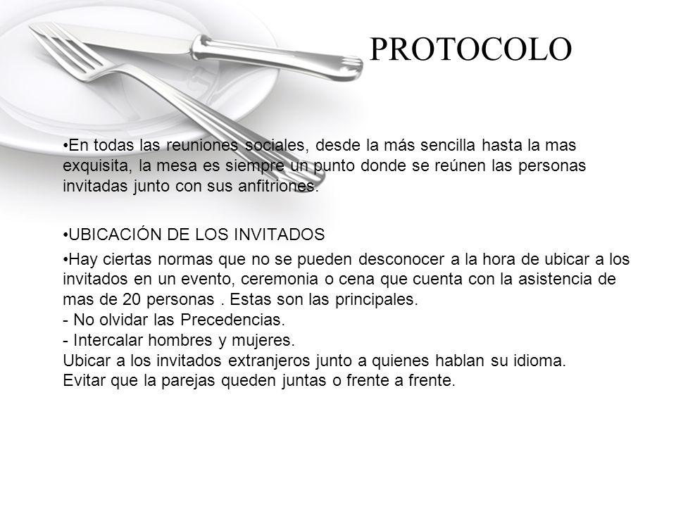 PROTOCOLO UBICACIÓN DE LOS ANFITRIONES.