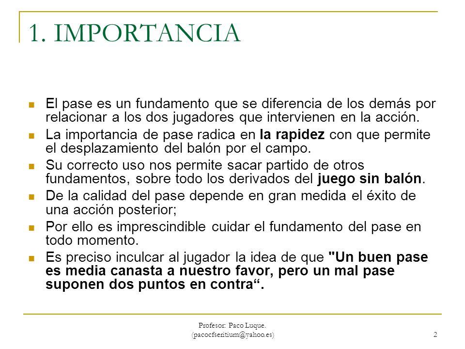 Profesor: Paco Luque. (pacocfseritium@yahoo.es) 33 CAMBIO DE MANO POR DELANTE.