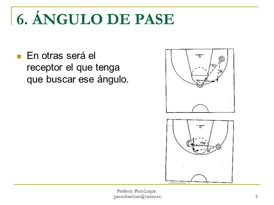 Profesor: Paco Luque. (pacocfseritium@yahoo.es) 39 CAMBIO DE MANO POR DETRÁS DE LA ESPALDA.