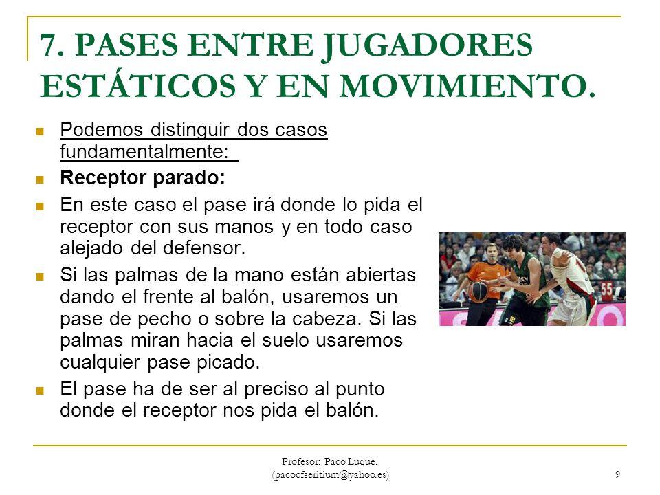 Profesor: Paco Luque.(pacocfseritium@yahoo.es) 40 5.5 CAMBIO DE RITMO CON BALÓN.