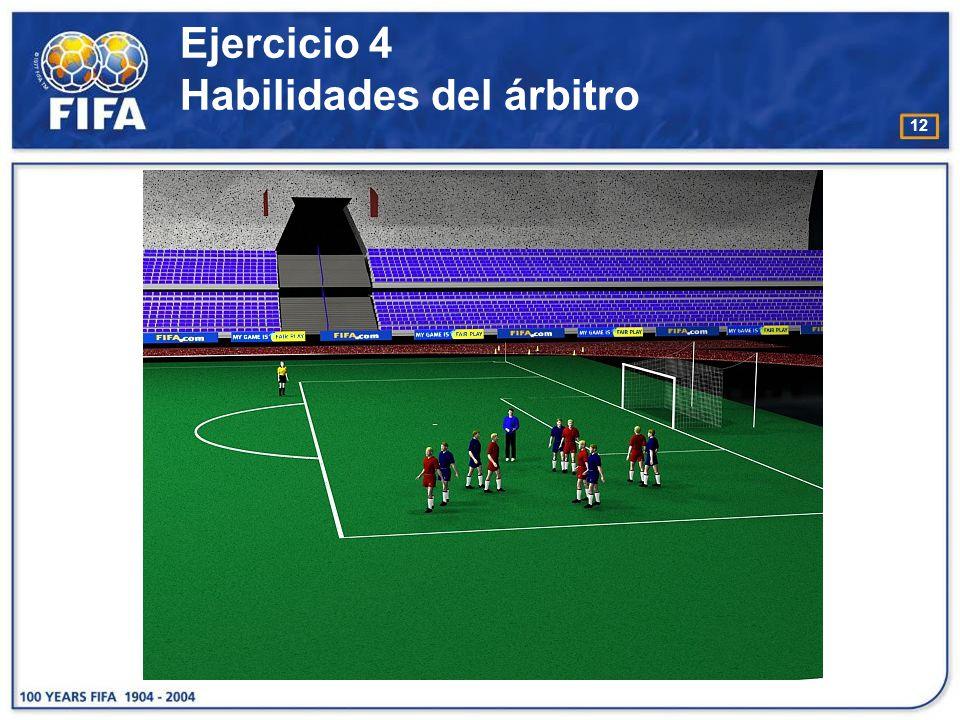 13 Ejercicio 5 Habilidades del árbitro O bjetivo : : −Aumentar el reconocimiento por parte del árbitro de los movimientos / acciones que realizan los jugadores dentro del área penal.