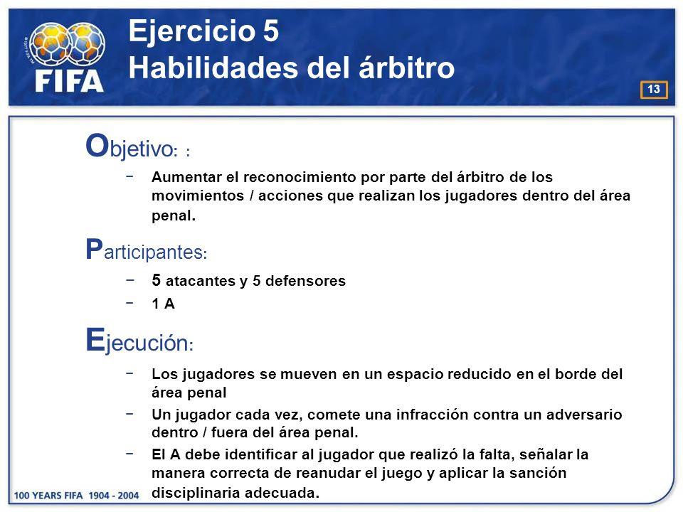14 Ejercicio 5 Habilidades del árbitro
