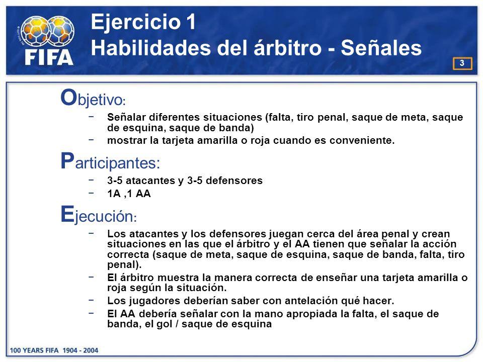4 Ejercicio 1 Habilidades del árbitro - Señales