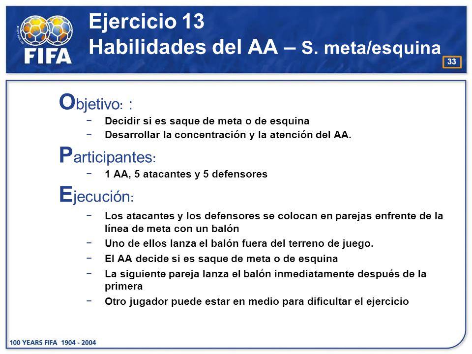 34 Ejercicio 13 Habilidades del AA – S. meta/esquina