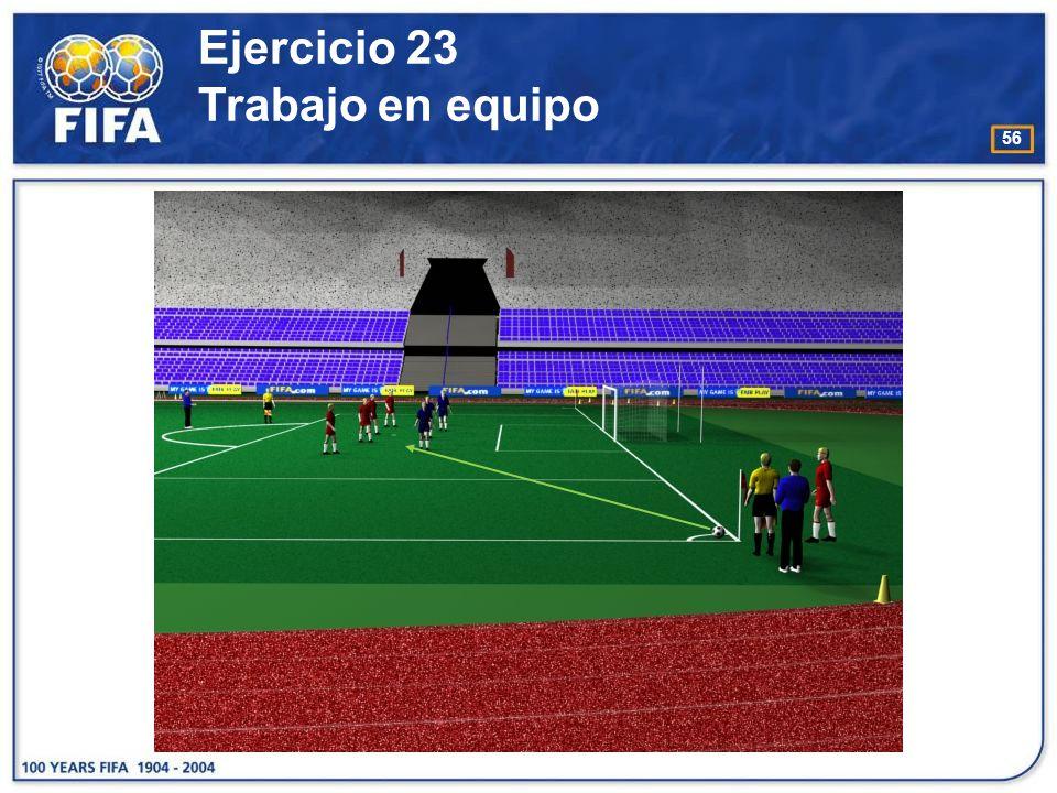 57 O bjetivo : −Desarrollar y mejorar el trabajo en equipo entre el árbitro y árbitro asistente en el reconocimiento de infracciones cometidas dentro / fuera del área penal.