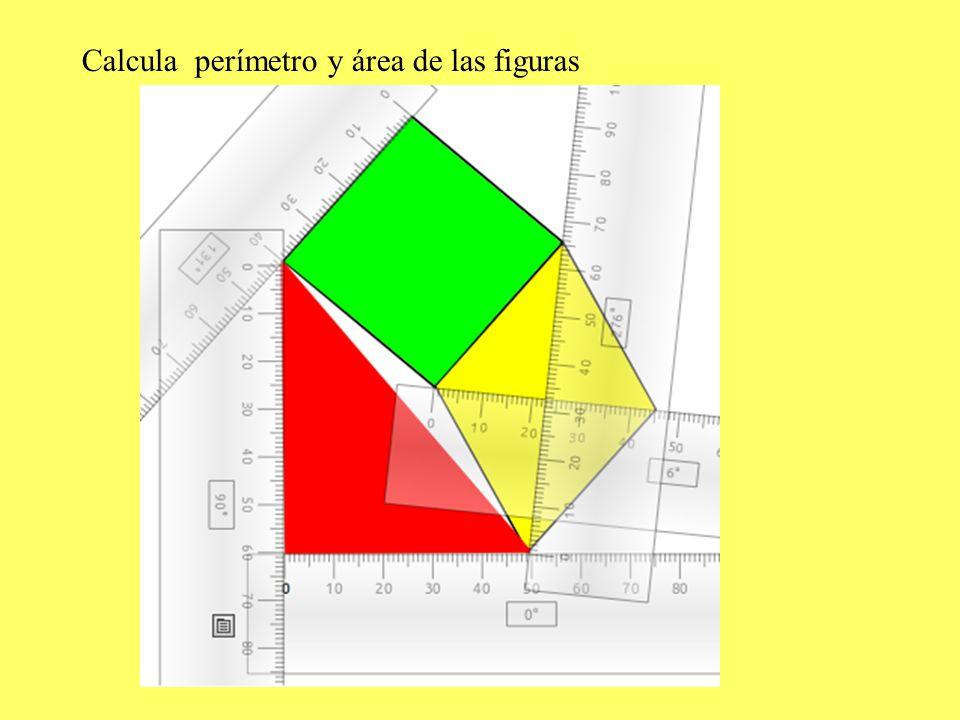 Calcula perímetro y área de las figuras