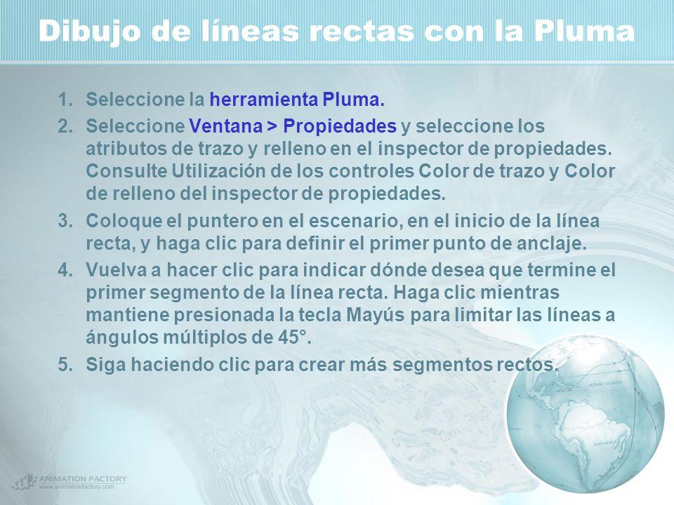 Dibujo de líneas rectas con la Pluma 1.Seleccione la herramienta Pluma.