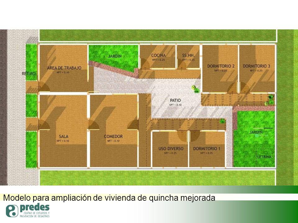 Modelo para ampliación de vivienda de quincha mejorada