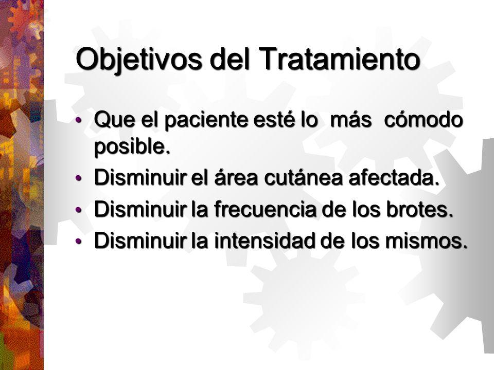 Objetivos del Tratamiento Que el paciente esté lo más cómodo posible.