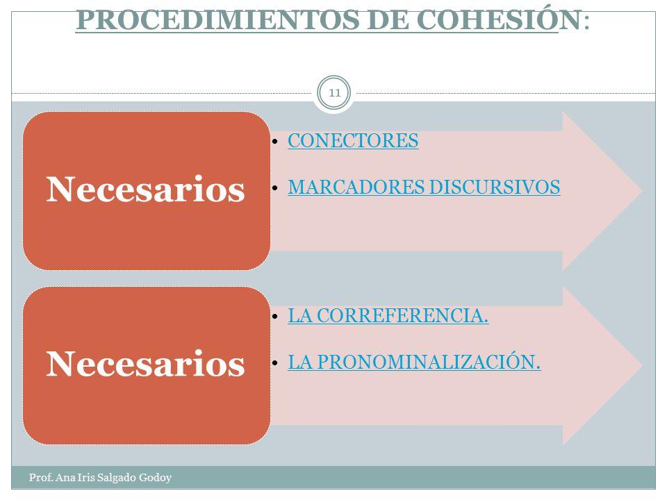 COHERENCIA Y COHESIÓN Prof.
