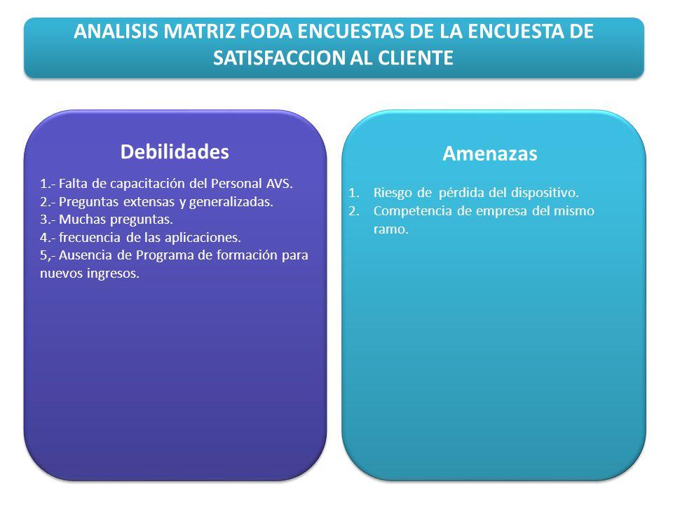 ANALISIS MATRIZ FODA SIGO Fortalezas 1.Optimización de la plantilla / Multifuncionalidad.
