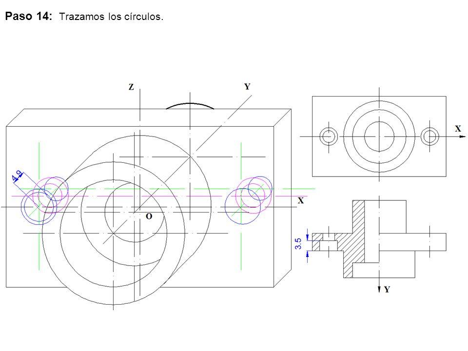 Paso 14: Trazamos los círculos.