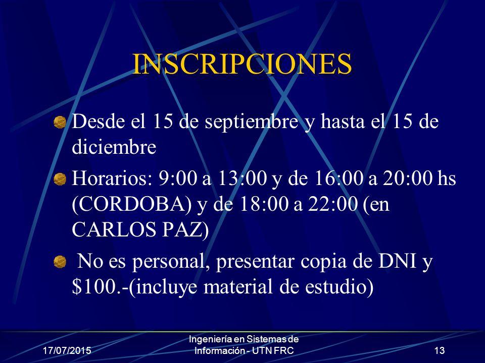 inscripciones para la universidad nacional de cordoba: