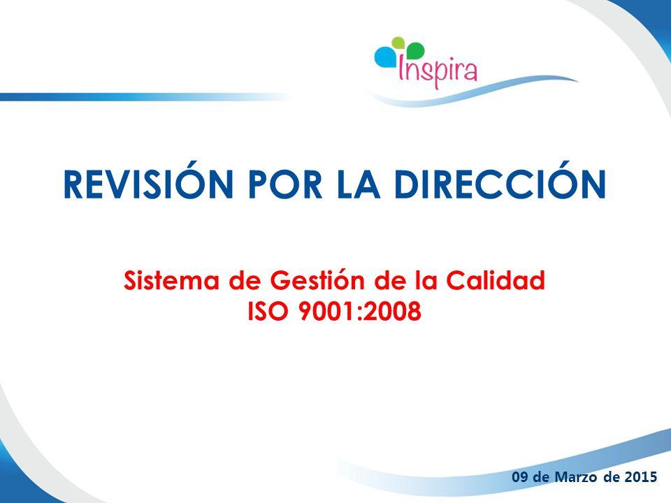 Sistema de Gestión de la Calidad ISO 9001:2008 REVISIÓN POR LA DIRECCIÓN 09 de Marzo de 2015