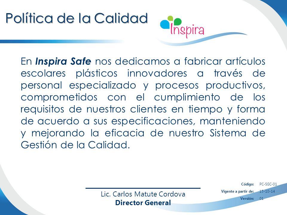 En Inspira Safe nos dedicamos a fabricar artículos escolares plásticos innovadores a través de personal especializado y procesos productivos, comprome
