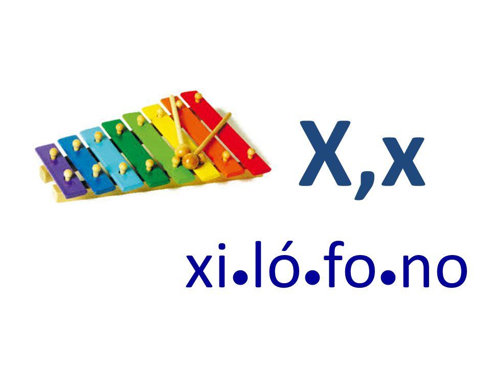 X,x xi ● ló ● fo ● no
