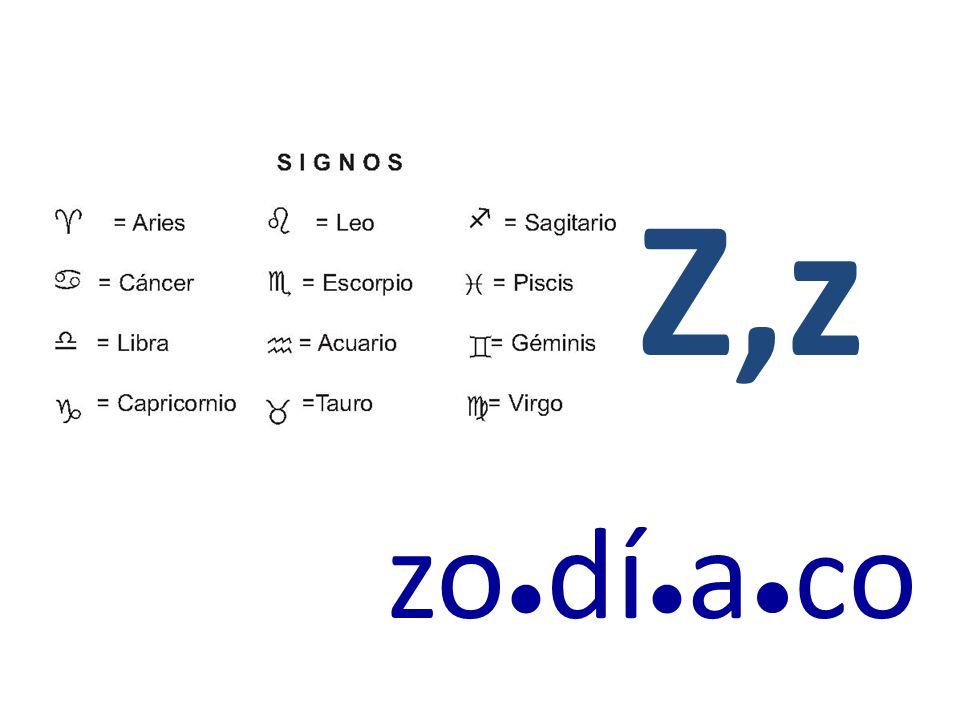 Z,z zo ● dí ● a ● c o