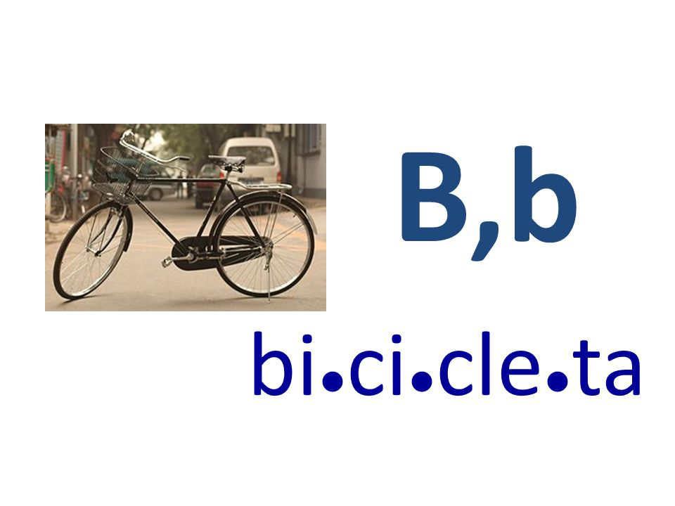 B,b bi ● ci ● cle ● ta