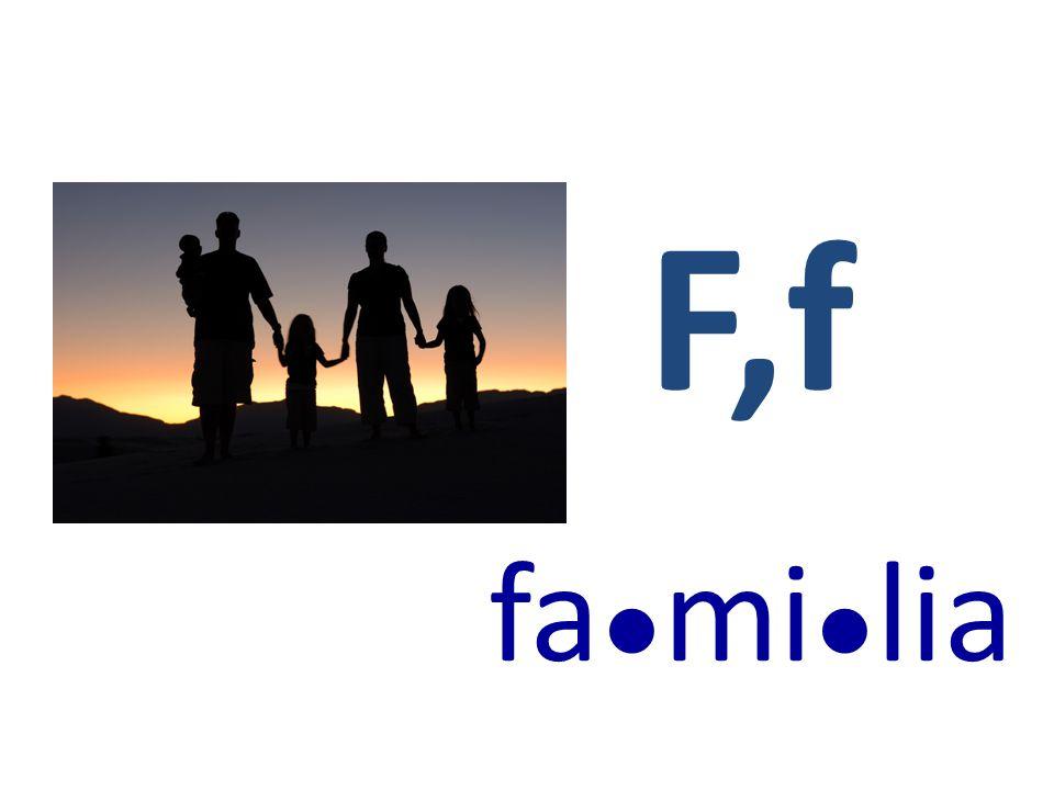 F,f fa ● mi ● lia
