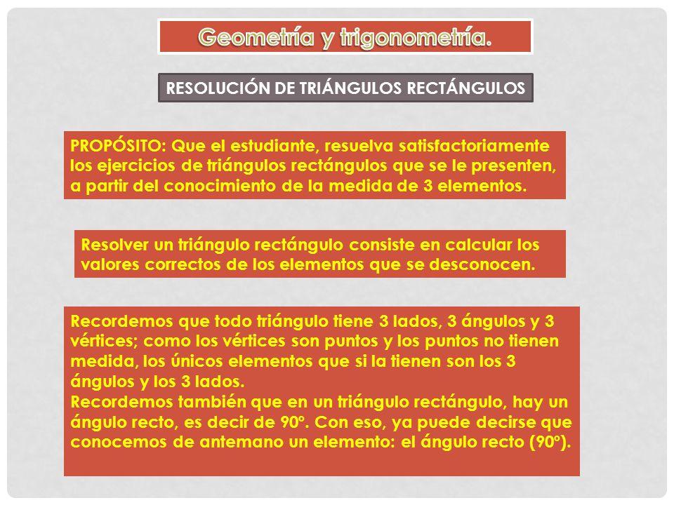 elemento de un triangulo:
