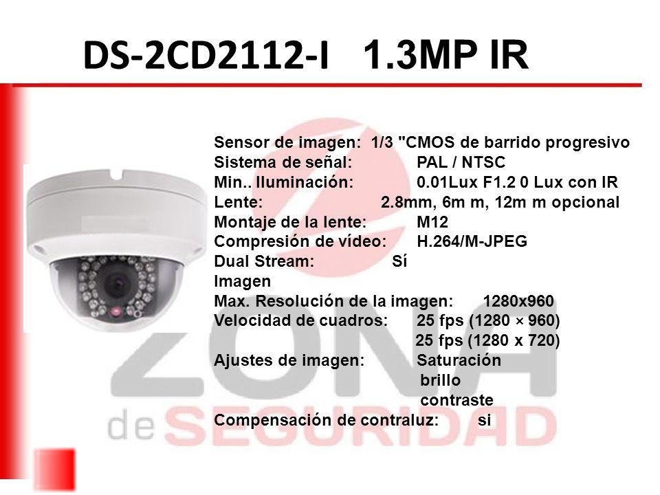 DS-2CE1582P-IR Sensor de imagen: 1/3 con tecnología DIS Resolución ...