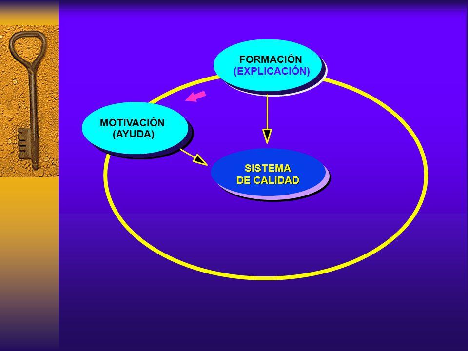 FORMACIÓN MOTIVACIÓN (AYUDA) (EXPLICACIÓN) SISTEMA DE CALIDAD