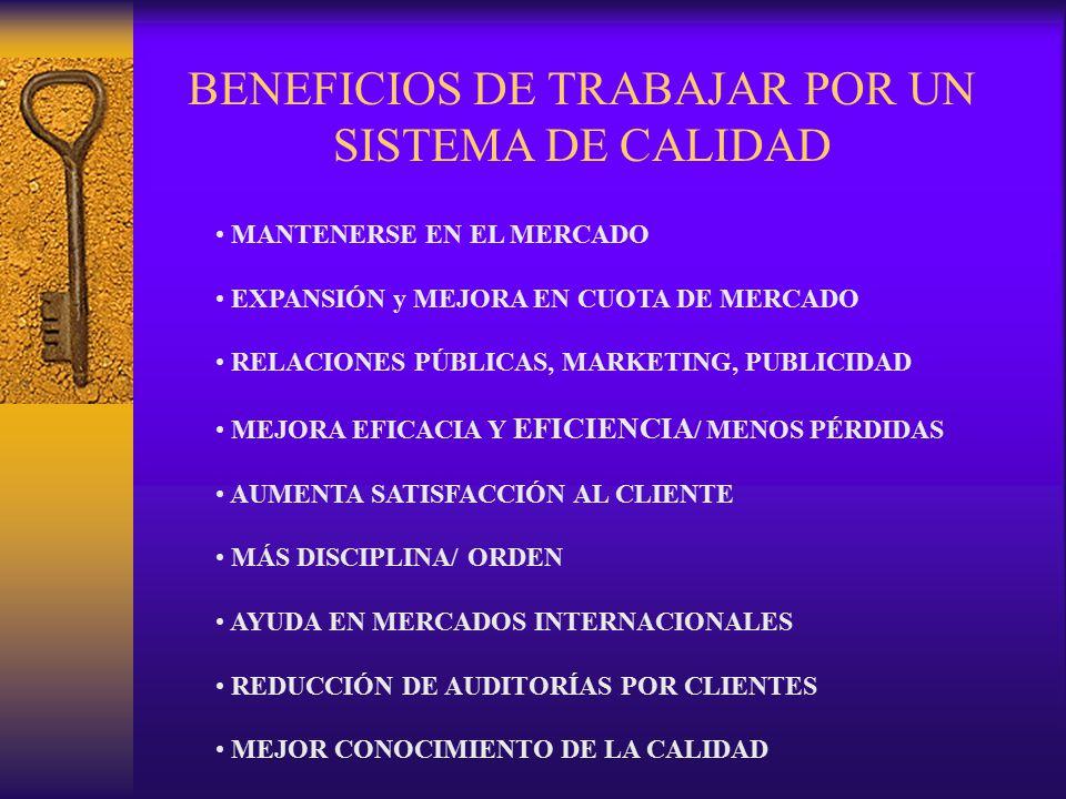 MANTENERSE EN EL MERCADO EXPANSIÓN y MEJORA EN CUOTA DE MERCADO RELACIONES PÚBLICAS, MARKETING, PUBLICIDAD MEJORA EFICACIA Y EFICIENCIA / MENOS PÉRDID