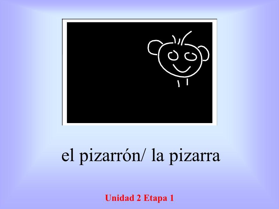 Unidad 2 Etapa 1 el pizarrón/ la pizarra