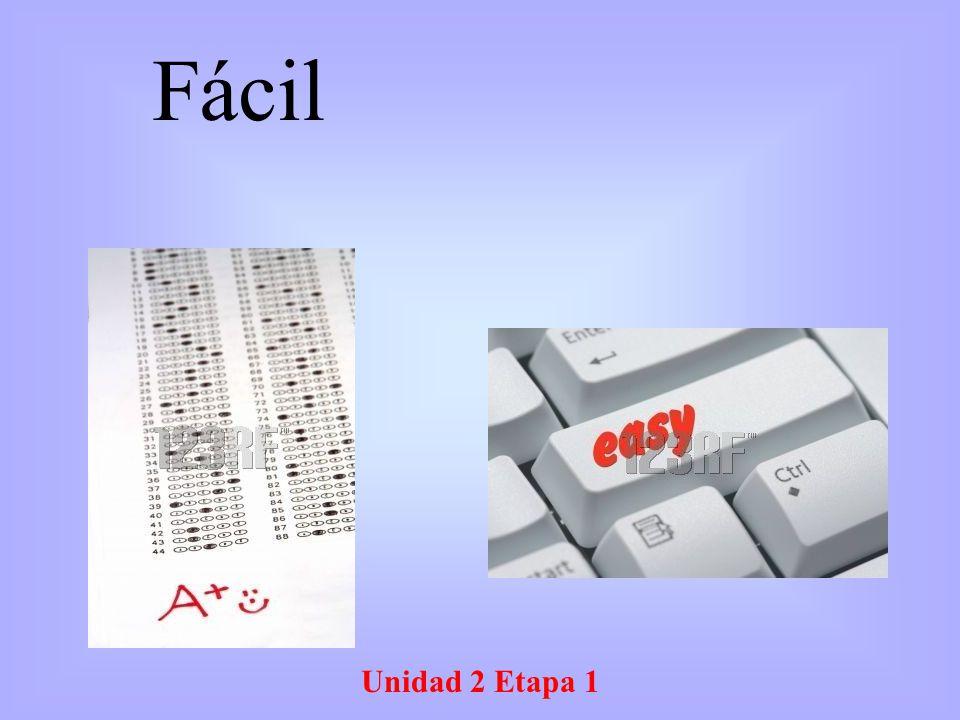 Unidad 2 Etapa 1 Fácil