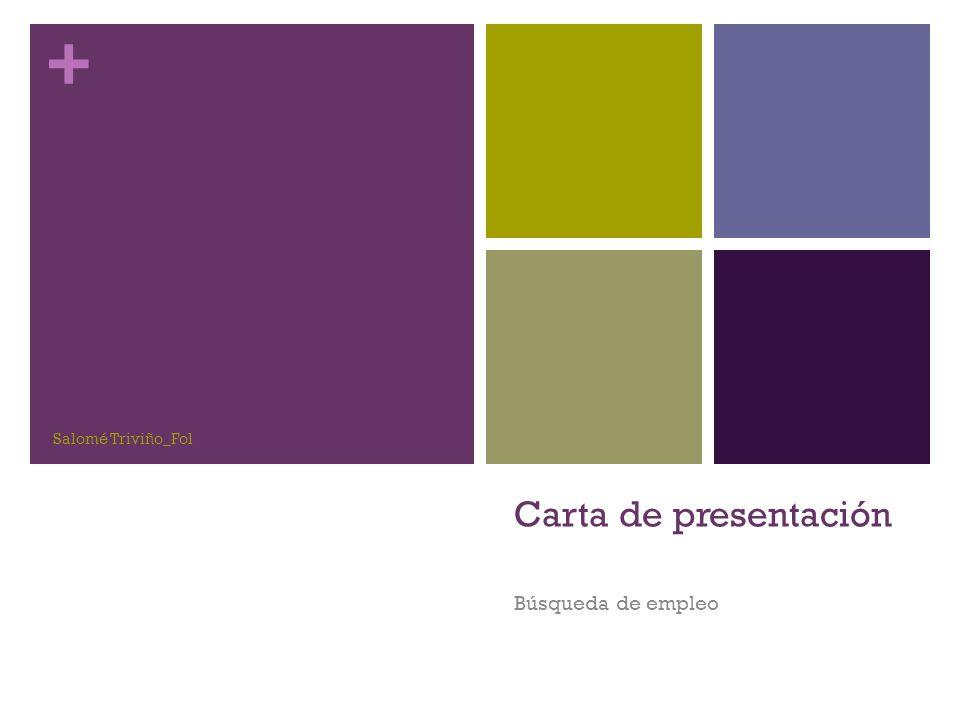 + Carta de presentación Búsqueda de empleo Salomé Triviño_Fol