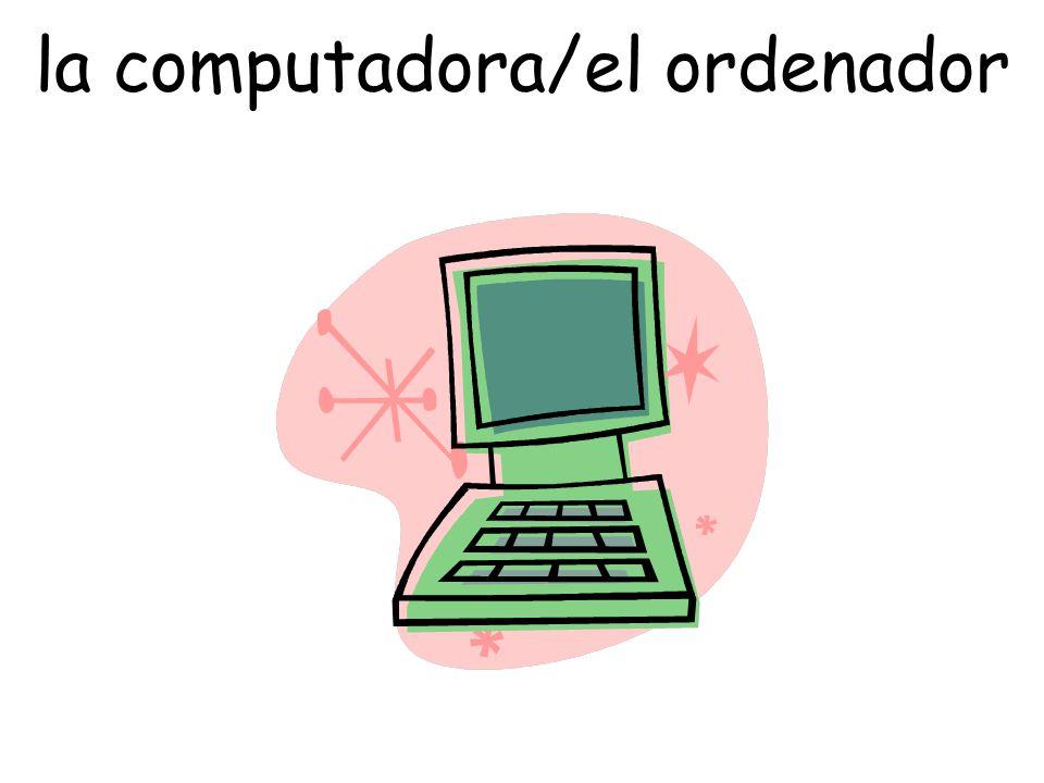 la computadora/el ordenador