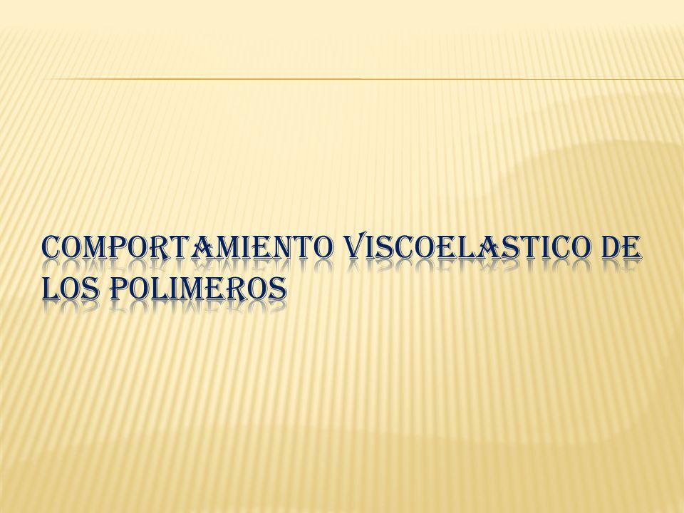 CONCLUSIONES: *LA VISCOELASTICIDAD ES LA MESCLA ENTRE VISCOSIDAD Y ELASTICIDAD *LOS VISCOELASTICOS DEPENDEN DE LA TEMPERATURA, ESFUERZO, Y TIEMPO *ES MUY IMPORTANTE EL ESTUDIO DE LOS POLIMEROS YA QUE REMPLAZA A LA MAYORIA DE LOS METALES, SON MAS LIGEROS.
