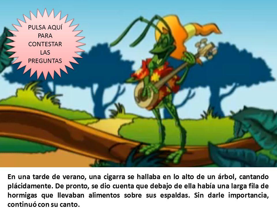 La fábula de la «La cigarra y la hormiga». El juego.