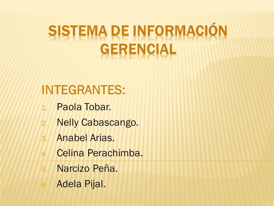 INTEGRANTES: 1. Paola Tobar. 2. Nelly Cabascango.