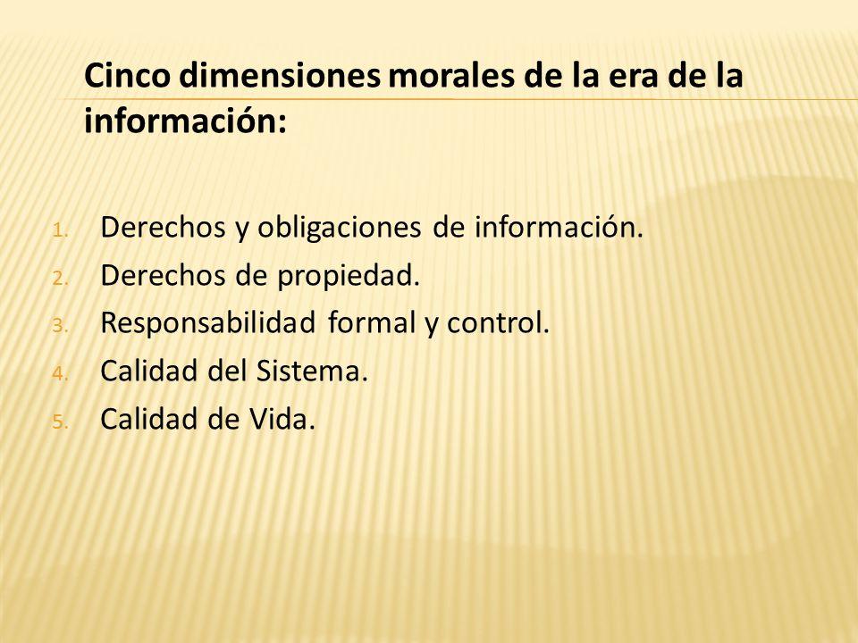 Cinco dimensiones morales de la era de la información: 1.