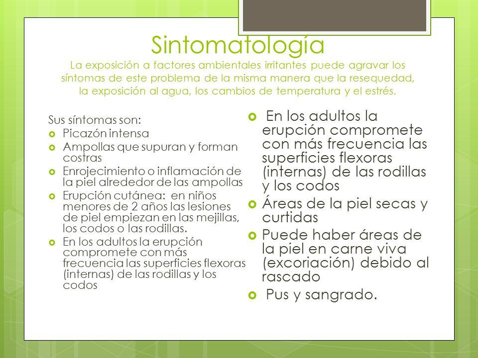 Sintomatología La exposición a factores ambientales irritantes puede agravar los síntomas de este problema de la misma manera que la resequedad, la ex