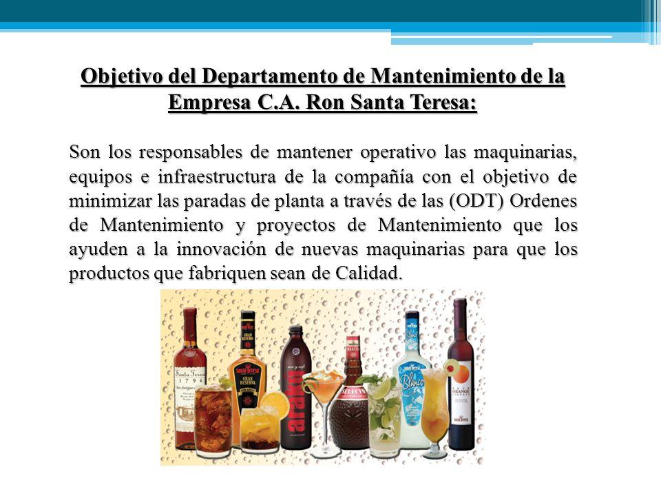 Objetivo del Departamento de Mantenimiento de la Empresa C.A.