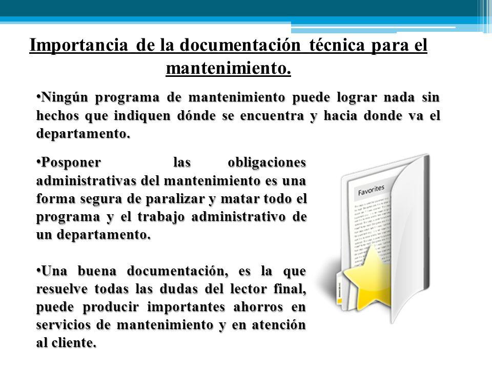 Ningún programa de mantenimiento puede lograr nada sin hechos que indiquen dónde se encuentra y hacia donde va el departamento.