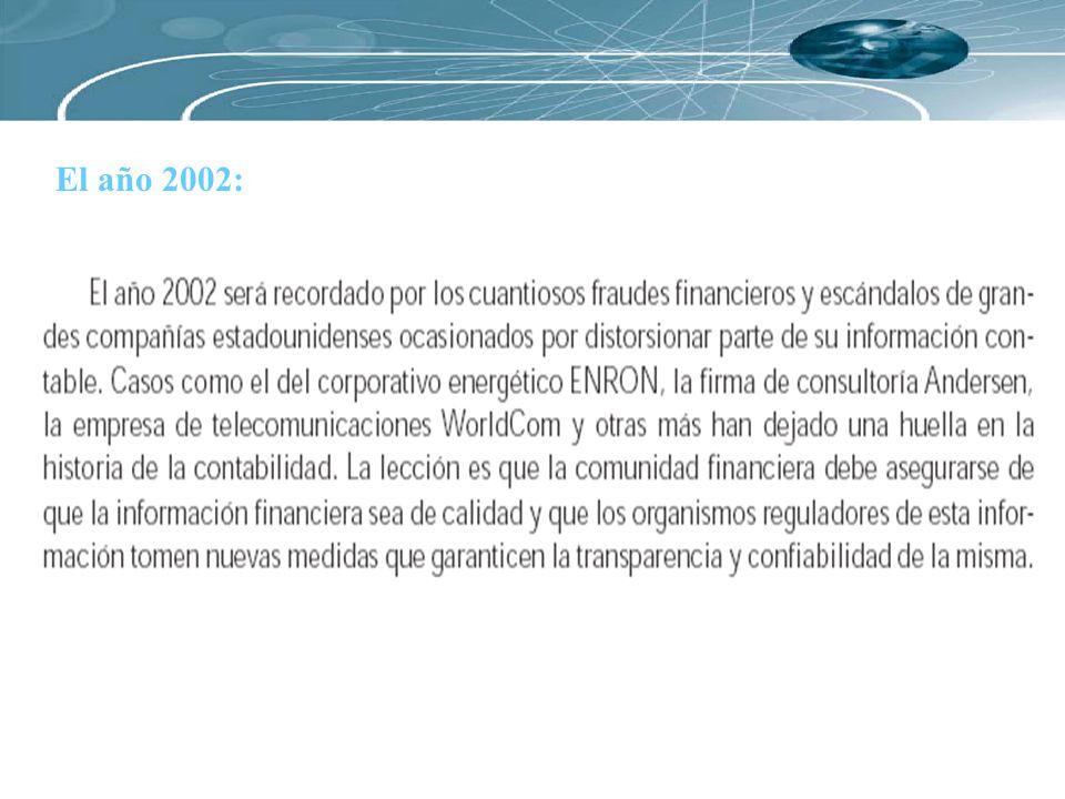 El año 2002: