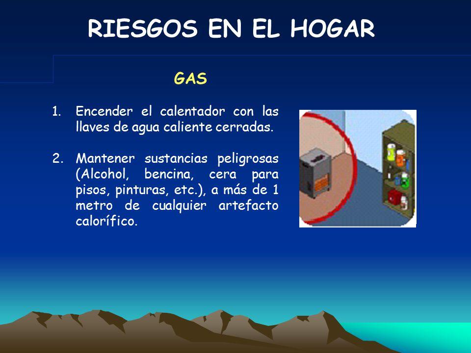 RIESGOS EN EL HOGAR 3.Retirar del alcance de los niños artículos de limpieza, porque son altamente tóxicos.