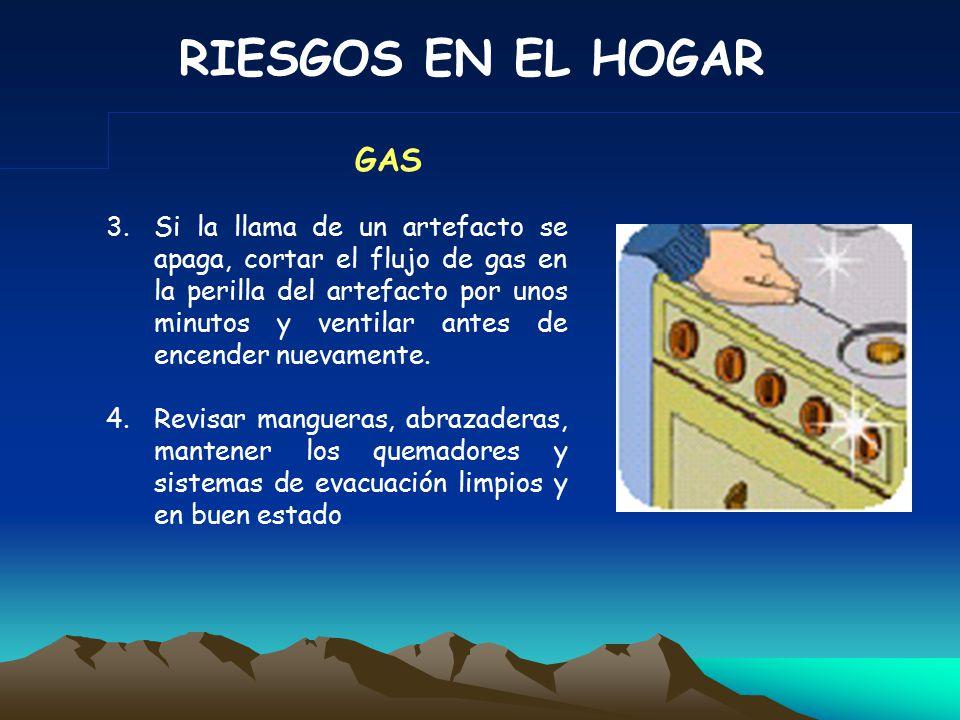 RIESGOS EN EL HOGAR 1.Encender el calentador con las llaves de agua caliente cerradas.